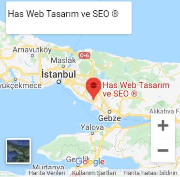 Has Web Tasarım Google Maps iletişim
