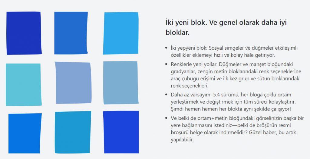 Wordpress 5.4 yeni bloklar